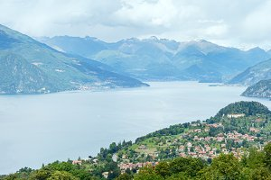 Lake Como summer scenery (Italy)