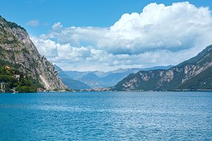 Lake Como summer scenery (Italy).