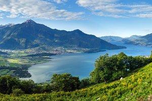Lake Como summer scenery (Italy).