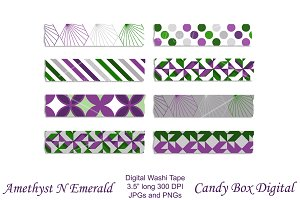 Amethyst Emerald Washi Tape Clip Art