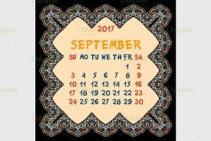 Calendar for 2017 Year.