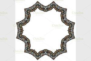Set of geometric frame