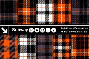 Halloween Tartan Plaid Papers