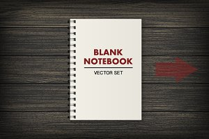 Notebook. Vector set