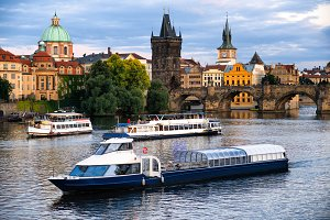 River boat cruise in Prague