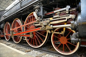 Old Steam train, wheels