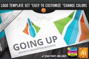 3D Arrows Growth Marketing Rise Logo
