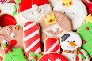 Homemade Christmas cookies.