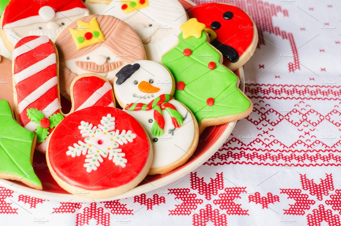 homemade christmas cookies food images creative market