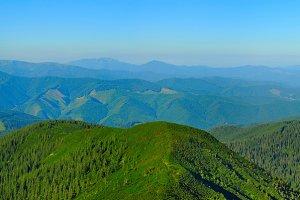 Carpathians mountains panorama