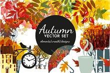 Autumn vector set