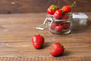 two sweet strawberries