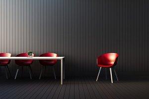 Modern red interior