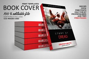 Book Cover Print Template PSD