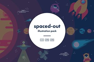 Spaced-Out Illustration Pack