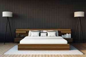 Modern Bedroom / 3D render image