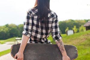 woman in long shirt