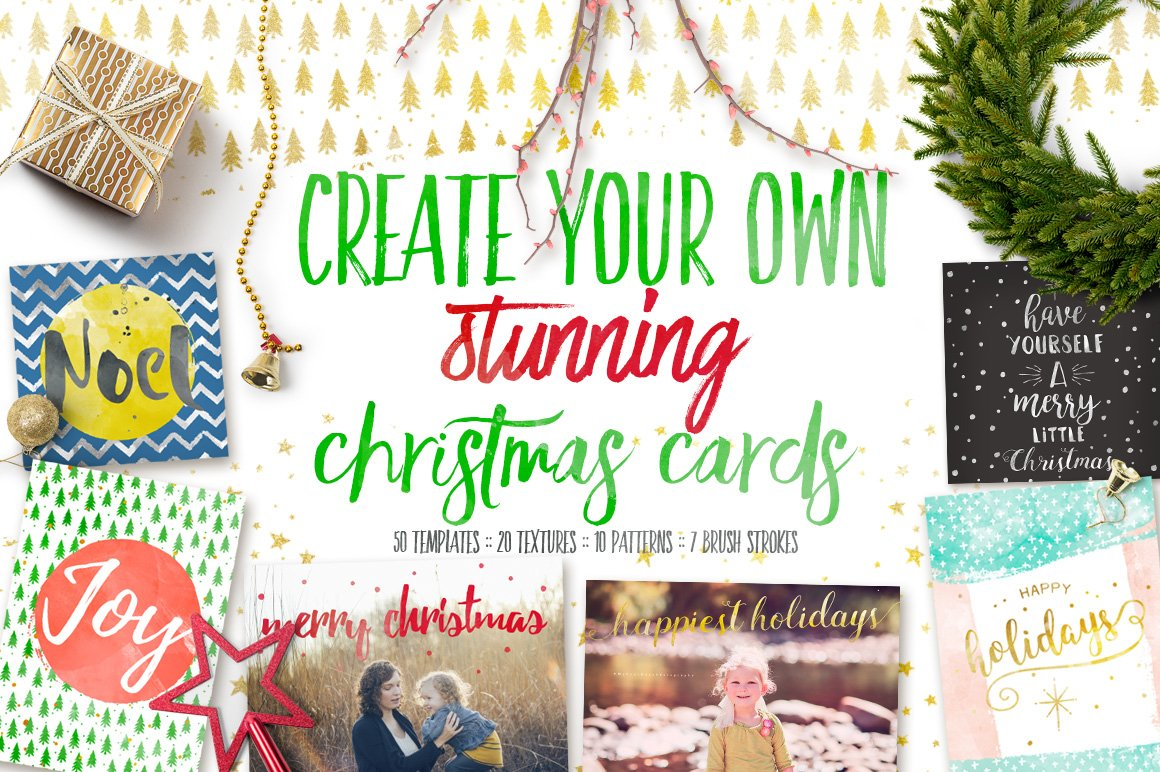 design your own christmas cards card templates creative market