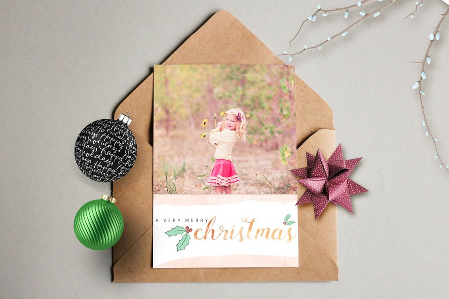 design your own christmas cards card templates creative market pro - Design Your Own Christmas Cards
