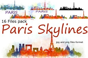 16xFiles Pack Paris France Skylines