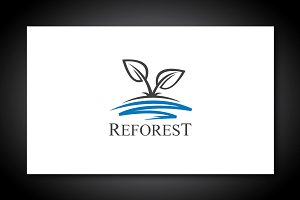 Reforest Leaf Logo Template