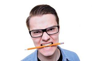 Angry man student