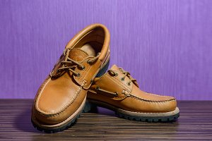 brown leather casual shoes