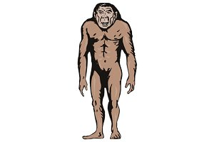 Primitive Man Standing