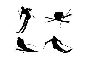 Skiing Silhouette