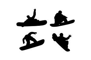 Snowboarding Silhouette