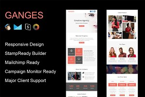 GANGES - Responsive Email Template