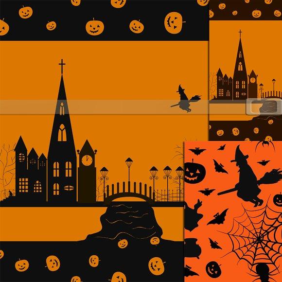 Halloween . 3JPG seamless . - Patterns