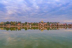 river of Mandalay at Myanmar.