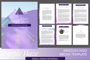 Boheme indd ebook template presentation templates creative market purple haze indesign ebook template maxwellsz