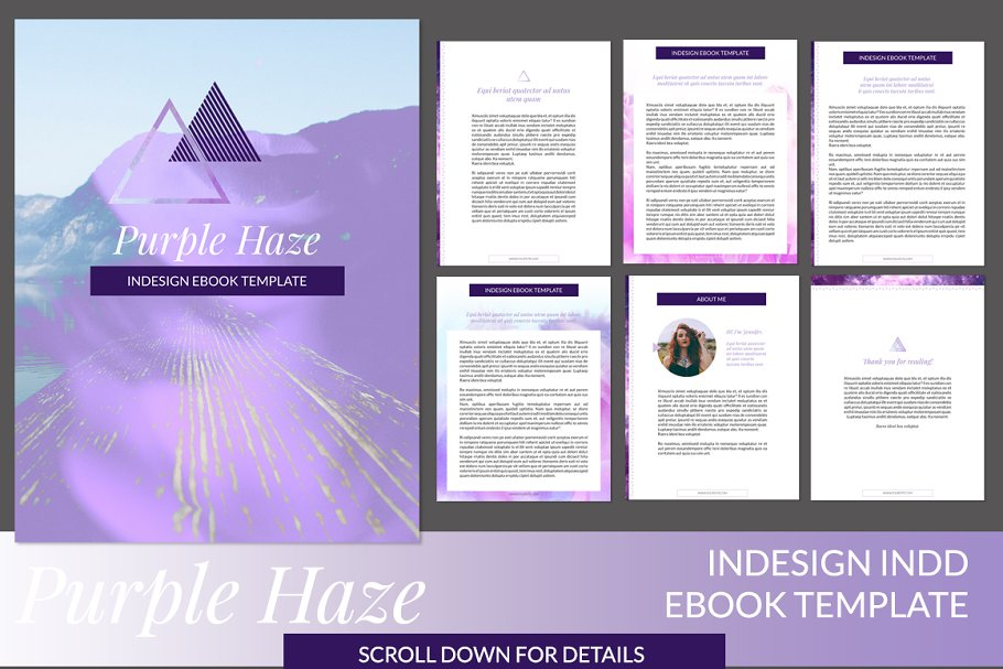 Purple Haze InDesign Ebook Template ~ Other Presentation