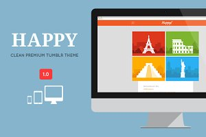 HAPPY Clean Responsive Tumblr Theme