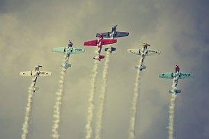 Vintage planes display