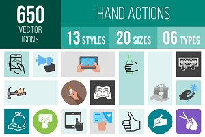 650 Hand Actions Icons