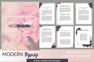 Boheme indd ebook template presentation templates creative market modern gypsy indesign ebook template maxwellsz
