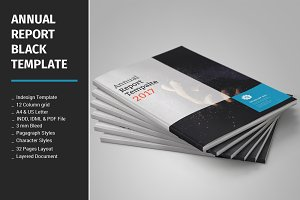 Annual Report Black Templates