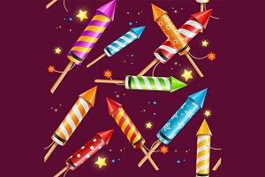 Party Rocket Fireworks Background