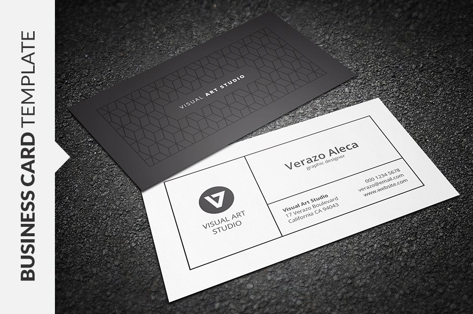 Clean Elegant Business Card Business Card Templates Creative Market