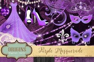Purple Masquerade Clipart