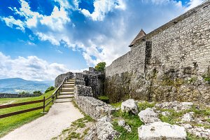 Citadel wall in Visegrad