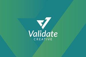 Validate - Letter V Logo