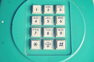 Old phone dial pad