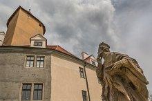 Castle Veveri and statue