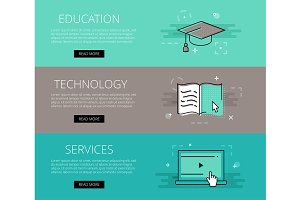 Ed Tech Services banner set