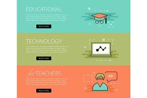 Ed Tech for Teachers banner set
