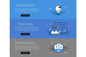 Innovative Teaching Tech banner set